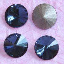 Távolkeleti kristály rivoli 18mm-es - farmerkék (Montana)
