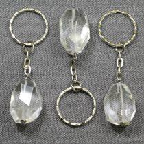 Hegyikristály, fazettált kulcstartó