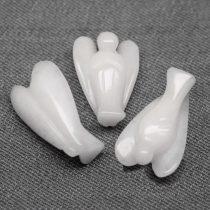 Tejkvarc angyal szobor - kb. 3,5x2,5cm-es