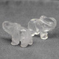 Hegyikristály elefánt szobor - kb. 4x3cm-es