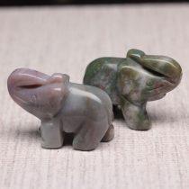 Indiai achát elefánt szobor - kb. 4x3cm-es