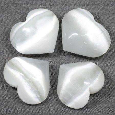 Szelenit szív marokkő - kb. 7-8cm-es /db