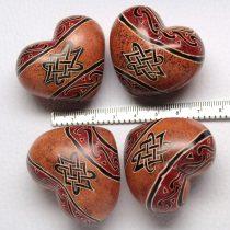 Zsírkő (festett) szív marokkő /db