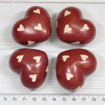 Zsírkő (festett) szív marokkő - kb. 4,5cm-es /db