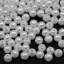 Akril teklagyöngy - 4mm-es fehér - 100db