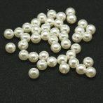 Akril teklagyöngy - 6mm-es halvány krémszínű - 100db