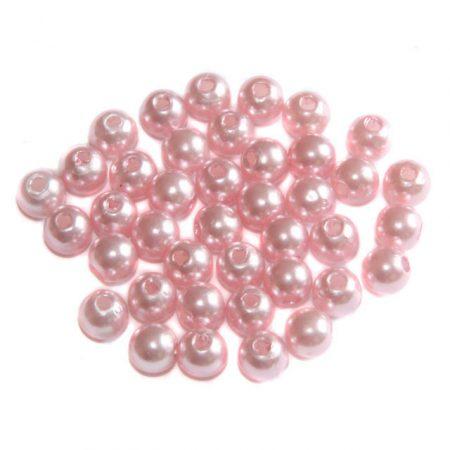 Akril teklagyöngy - 6mm-es rózsaszín - 100db