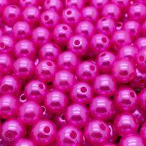 Akril teklagyöngy - 6mm-es pink - 100db