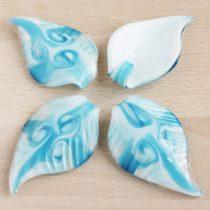 Muránói stílusú, kézi készítésű üvegmedál - kb. 7x4,5cm-es