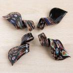Muránói stílusú, kézi készítésű üvegmedál - kb. 6,5x3cm-es