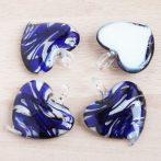 Muránói stílusú, kézi készítésű üvegmedál - kb. 5x4,5cm-es
