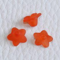 Akril virág - 5x9mm-es áttetsző matt sötétebb narancssárga - 20db