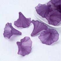 Akril nagy virág - 41x35mm-es áttetsző matt lila