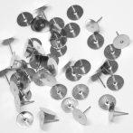 Nemesacél beszúrós fülbevaló alap - 10mm-es ragasztható felülettel - 1 pár