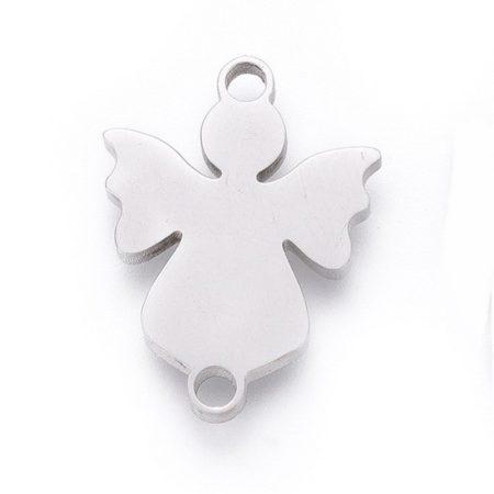 Nemesacél összekötő elem - 16x12x1,5mm angyal