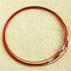 Sodrony nyaklánc, csavaros kapocsal - 1mm vastagságú, 45cm hosszú - piros