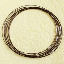 Sodrony nyaklánc, csavaros kapocsal - 1mm vastagságú, 45cm hosszú - sötétbarna