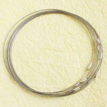 Sodrony nyaklánc, csavaros kapocsal - 1mm vastagságú, 45cm hosszú - ezüstszürke