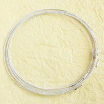 Sodrony nyaklánc, csavaros kapocsal - 1mm vastagságú, 45cm hosszú - fehér