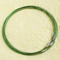 Sodrony nyaklánc, csavaros kapocsal - 1mm vastagságú, 45cm hosszú - zöld