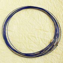 Sodrony nyaklánc, csavaros kapocsal - 1mm vastagságú, 45cm hosszú - királykék