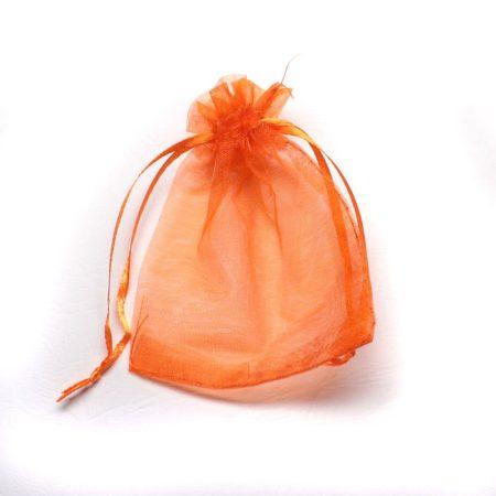 Organza ajándéktasak kb. 8x10cm-es narancssárga