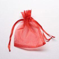 Organza ajándéktasak kb. 8x10cm-es piros