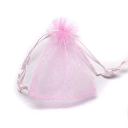 Organza ajándéktasak kb. 8x10cm-es rózsaszín
