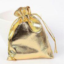 Textil ajándéktasak kb. 9x12cm-es arany színű