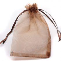 Organza ajándéktasak kb. 10x14cm-es barna