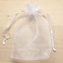 Organza ajándéktasak kb. 10x14cm-es fehér