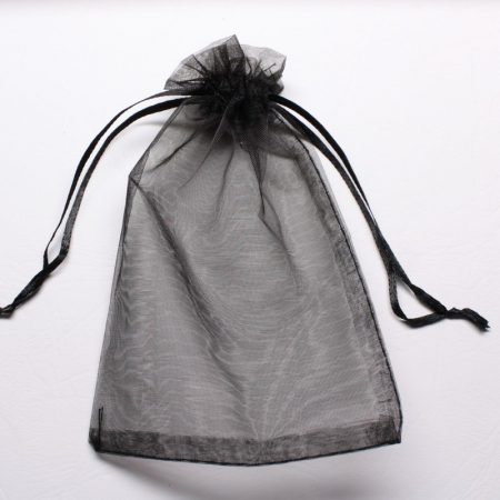 Organza ajándéktasak kb. 10x14cm-es fekete