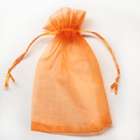 Organza ajándéktasak kb. 10x14cm-es narancssárga