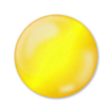 Pentart 3D Dekortoll - átlátszó citrinsárga 30ml