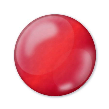 Pentart 3D Dekortoll - átlátszó rubinvörös 30ml