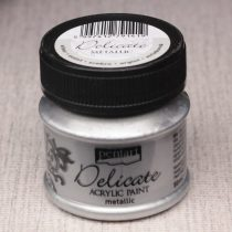 Pentart Delicate akrilfesték 50ml ezüst