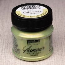 Pentart Glamour akrilfesték 50ml zöldarany