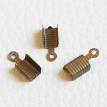 Fém szalagvég, zsinórvég, bőrvég - antik bronz színű - 13x5mm-es