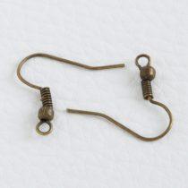 Antik bronz színű akasztós fülbevaló alap - 1 pár (2db)