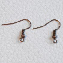 Antik vörösréz színű akasztós fülbevaló alap - 1 pár (2db)