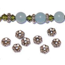 Tibeti stílusú fém köztes - antik ezüst színű 2x5,5mm-es rondell