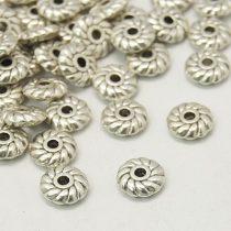 Tibeti stílusú fém köztes - antik ezüst színű 2x6mm-es rondell