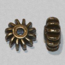 Tibeti stílusú fém köztes - antik bronz színű 6x12mm-es rondell
