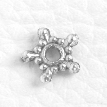 Tibeti stílusú fém köztes - antik ezüst színű 1,7x9mm-es csillag