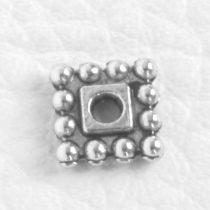 Tibeti stílusú fém köztes - antik ezüst színű 1,6x7mm-es négyszög