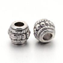 Tibeti stílusú fém köztes - antik ezüst színű 6,5x8mm-es, furata: 3mm