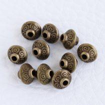 Tibeti stílusú fém köztes - antik bronz színű 6,5x7mm-es kúpos
