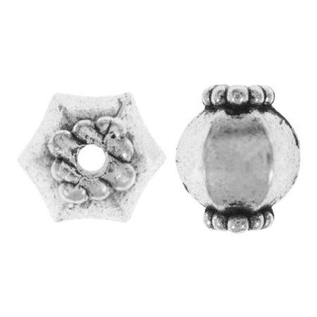 Tibeti stílusú fém köztes - antik ezüst színű 10x9mm-es