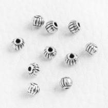 Tibeti stílusú fém köztes - antik ezüst színű 4x5mm-es