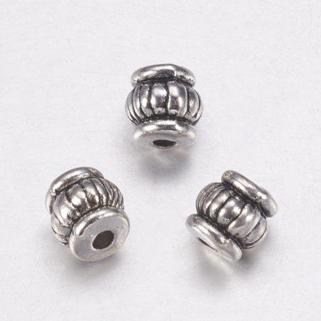 Tibeti stílusú fém köztes - antik ezüst színű 5x5mm-es, furata: 1,5mm